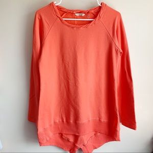 Soft Surroundings Orange Twist Crewneck Sweater